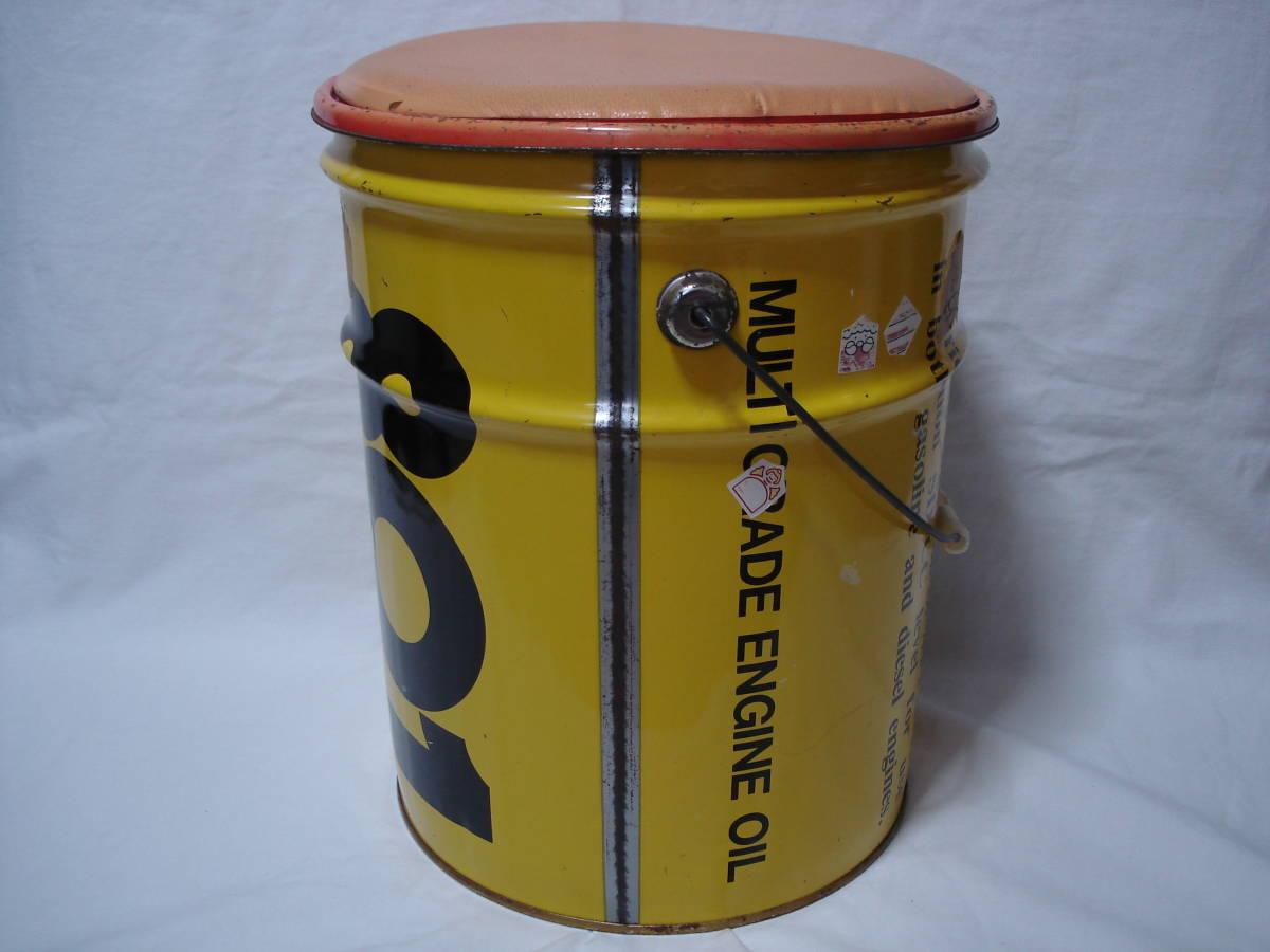 味のあるカーガレージ★エンジンオイル801★ブリキ製20Lペール缶・ダスト缶/蓋付き_画像2