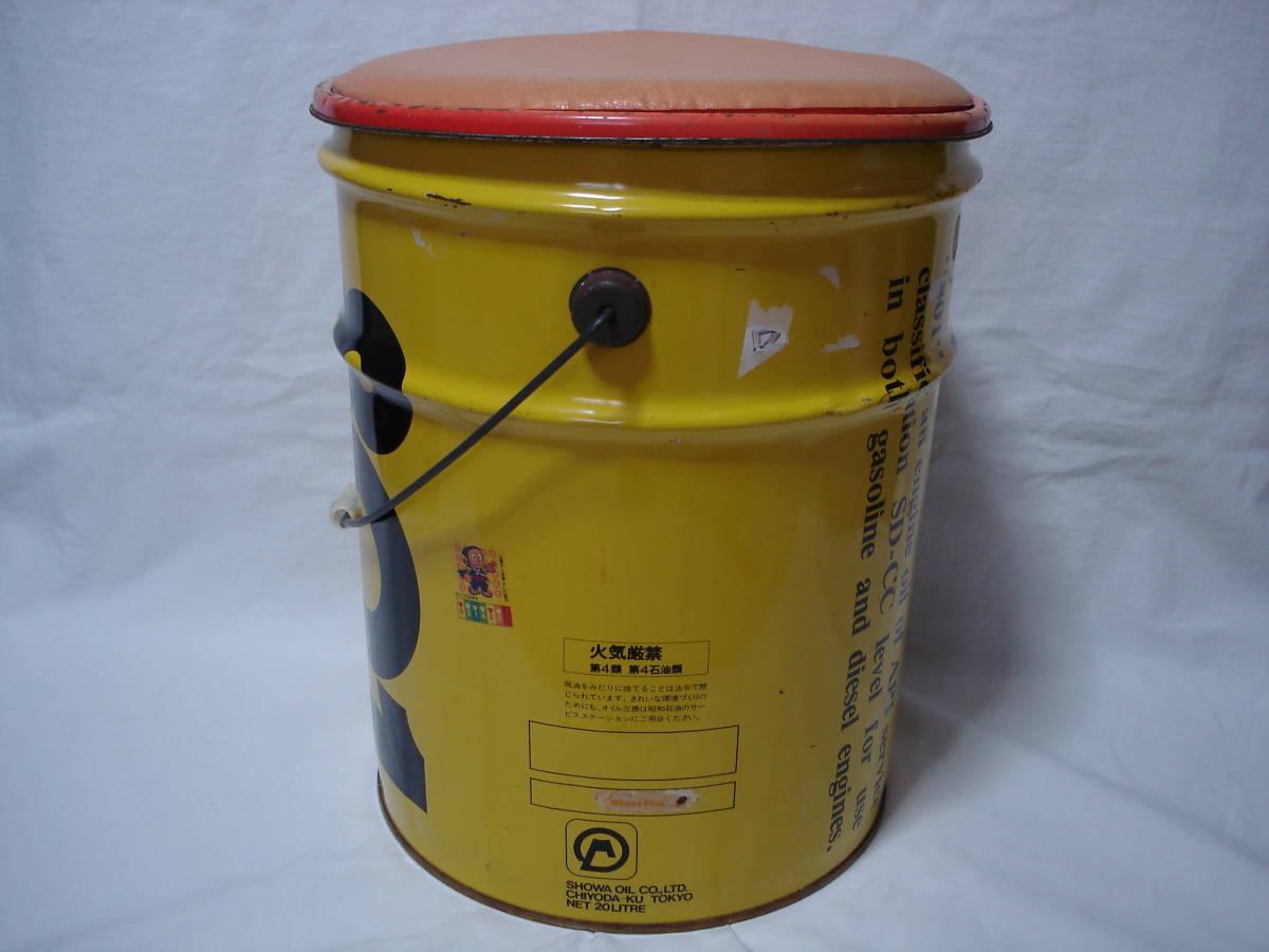 味のあるカーガレージ★エンジンオイル801★ブリキ製20Lペール缶・ダスト缶/蓋付き_画像4