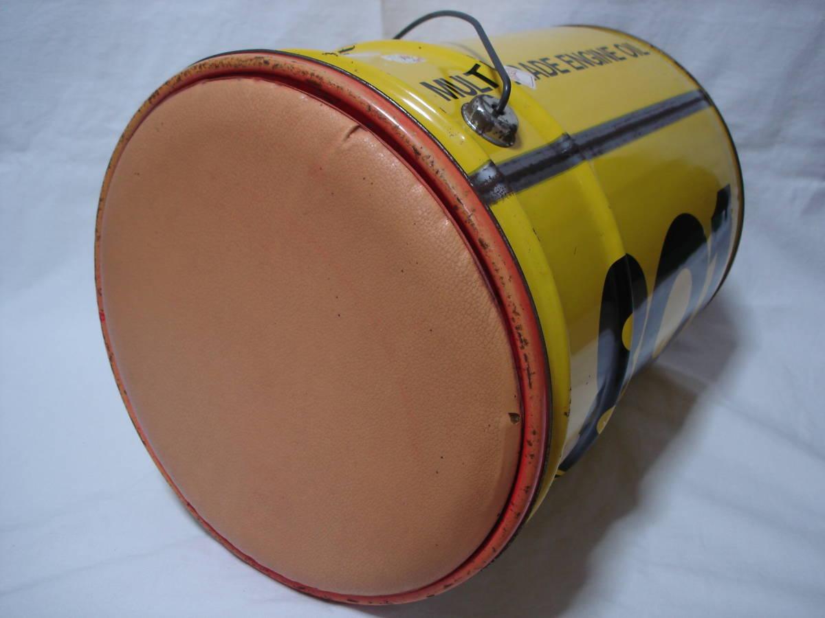 味のあるカーガレージ★エンジンオイル801★ブリキ製20Lペール缶・ダスト缶/蓋付き_画像6