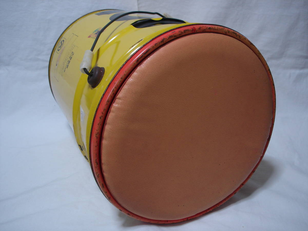 味のあるカーガレージ★エンジンオイル801★ブリキ製20Lペール缶・ダスト缶/蓋付き_画像7