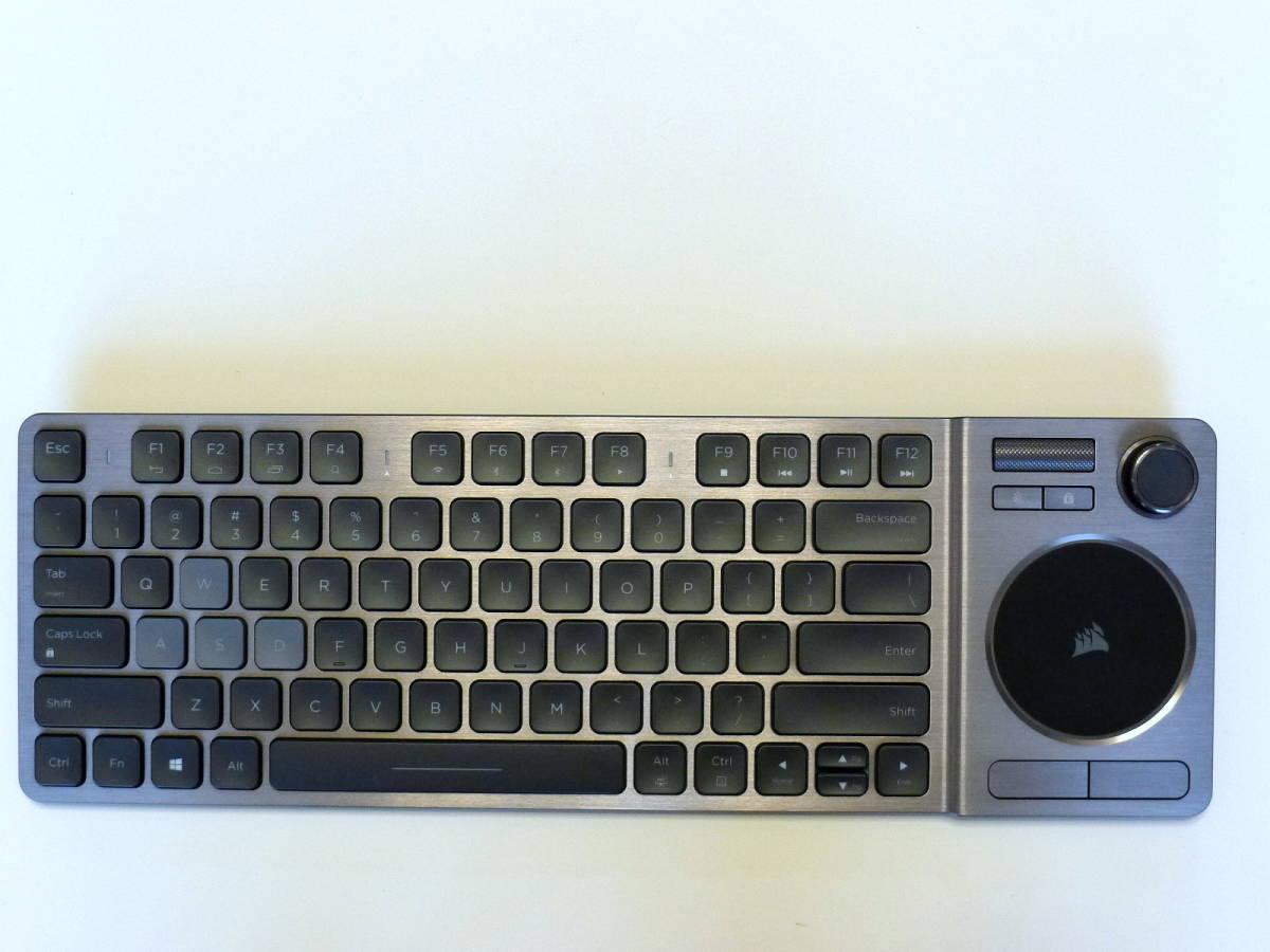 【使用僅か 美品】CORSAIR コルセア K83 ワイヤレスエンターテイメントキーボード 英語配列_画像4