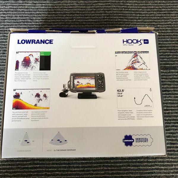 【新品】 LOWRANCE HOOK2 4X GPS ローランス 魚群探知機 魚探 フック2 4X GPSモデル 振動子付き 即納品_画像2