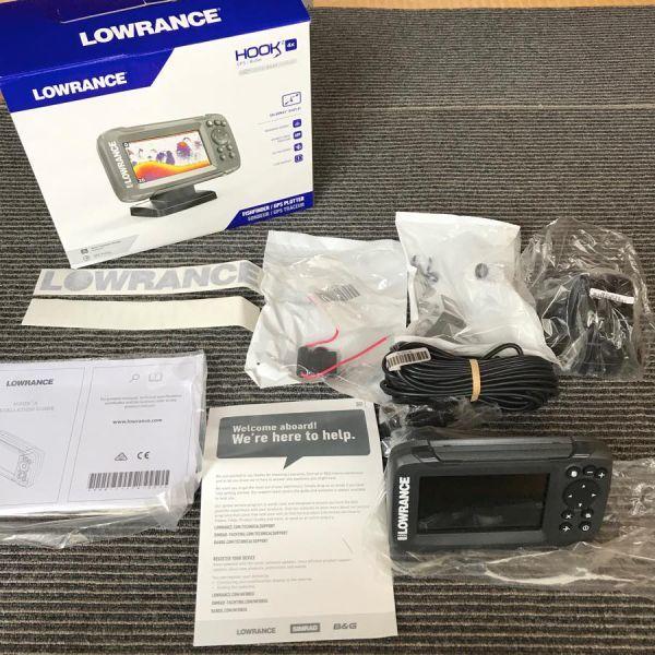 【新品】 LOWRANCE HOOK2 4X GPS ローランス 魚群探知機 魚探 フック2 4X GPSモデル 振動子付き 即納品_画像3