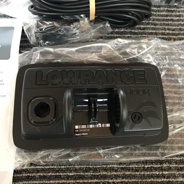 【新品】 LOWRANCE HOOK2 4X GPS ローランス 魚群探知機 魚探 フック2 4X GPSモデル 振動子付き 即納品_画像6
