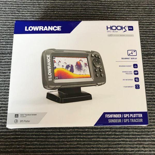 【新品】 LOWRANCE HOOK2 4X GPS ローランス 魚群探知機 魚探 フック2 4X GPSモデル 振動子付き 即納品