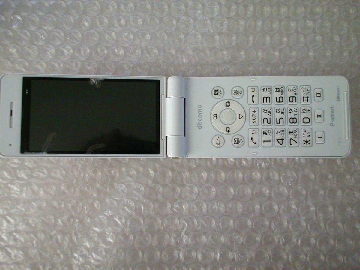 中古 Panasonic ドコモ P-smart ケータイ P-01J ホワイト_画像7