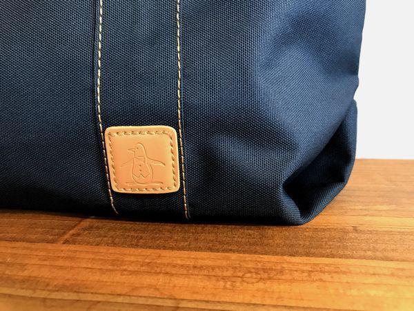 新品14040円★マンシング カラーコンビ ボストントートバッグ 紺/グリーン_画像2