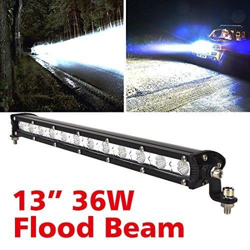 限定1個♪Safego 36W LED作業灯 汎用LEDライトバー オフロード 12LED ワークライト12v/24v対応 C