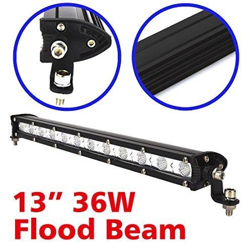限定1個♪Safego 36W LED作業灯 汎用LEDライトバー オフロード 12LED ワークライト12v/24v対応 C_画像3