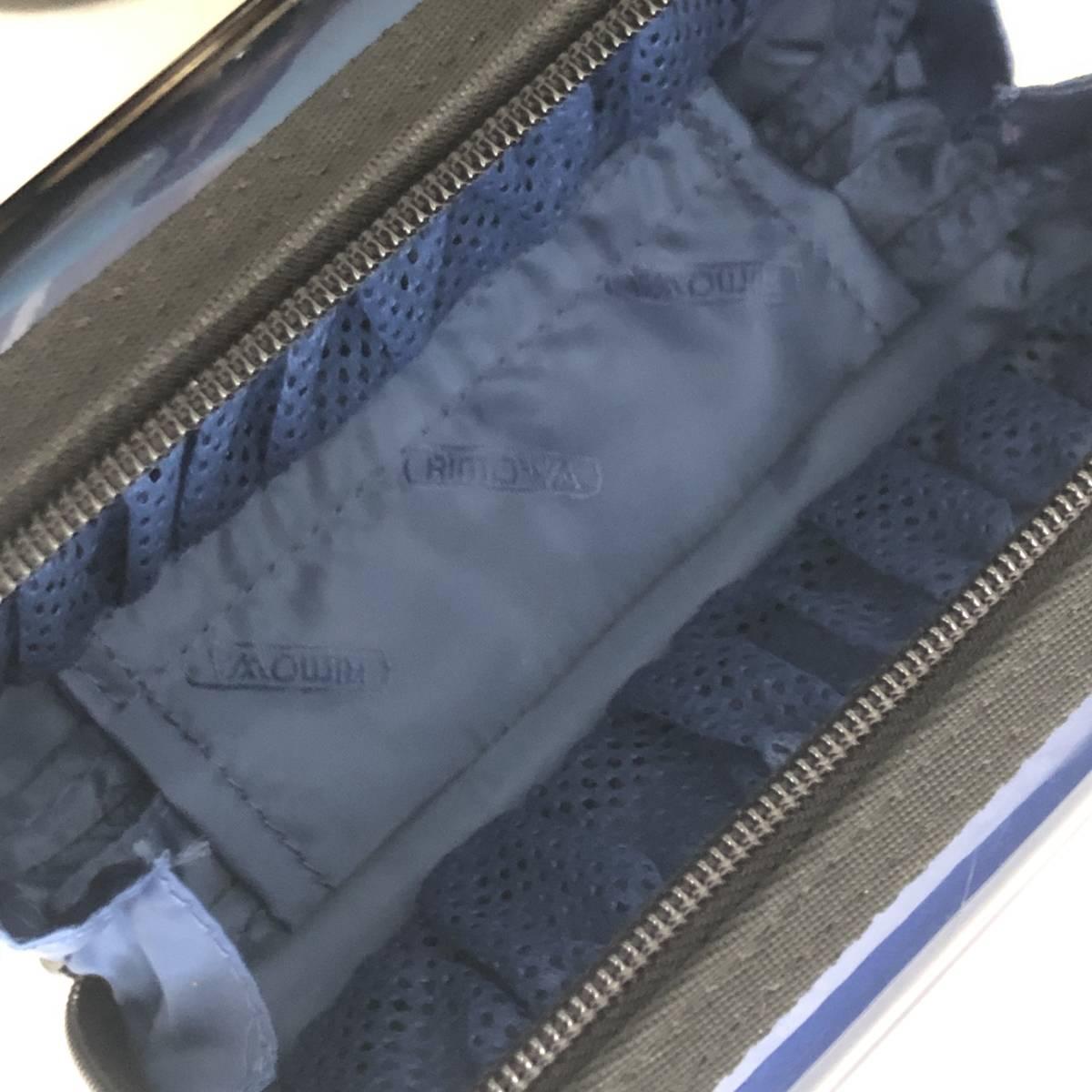 【値下交渉あり】RIMOWA×ANA リモワ 日本航空 アナ ファーストクラス限定配布 非売品 アメニティケース 希少なブルー 確実本物正規品_画像4