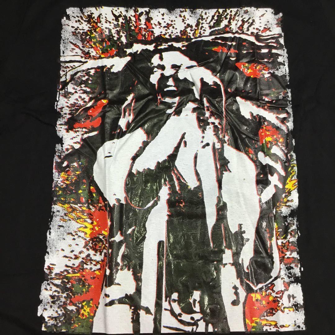 DBRD1♪ デザインプリントTシャツ XXLサイズ ボブマーリー BOB MARLEY 黒