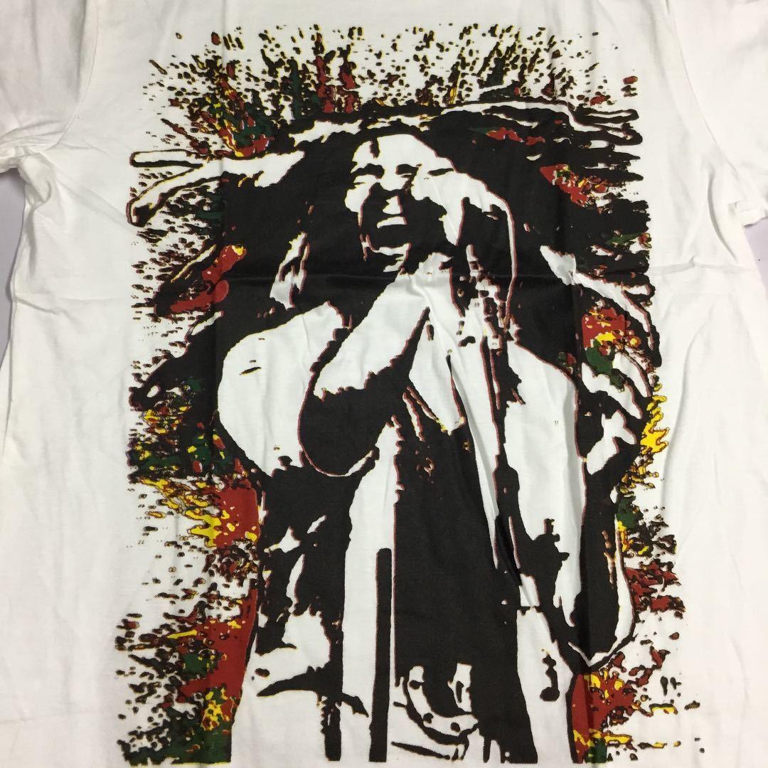 DBRB1♪ デザインプリントTシャツ Lサイズ ボブマーリー BOB MARLEY 白