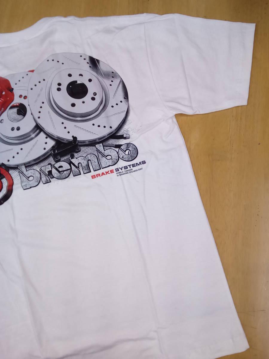Tシャツ XLサイズ 白 Brembo 2 ブレーキ キャリパー ワイルドスピード ムーンアイズ ホットロッド カスタムカー 希少 _画像1