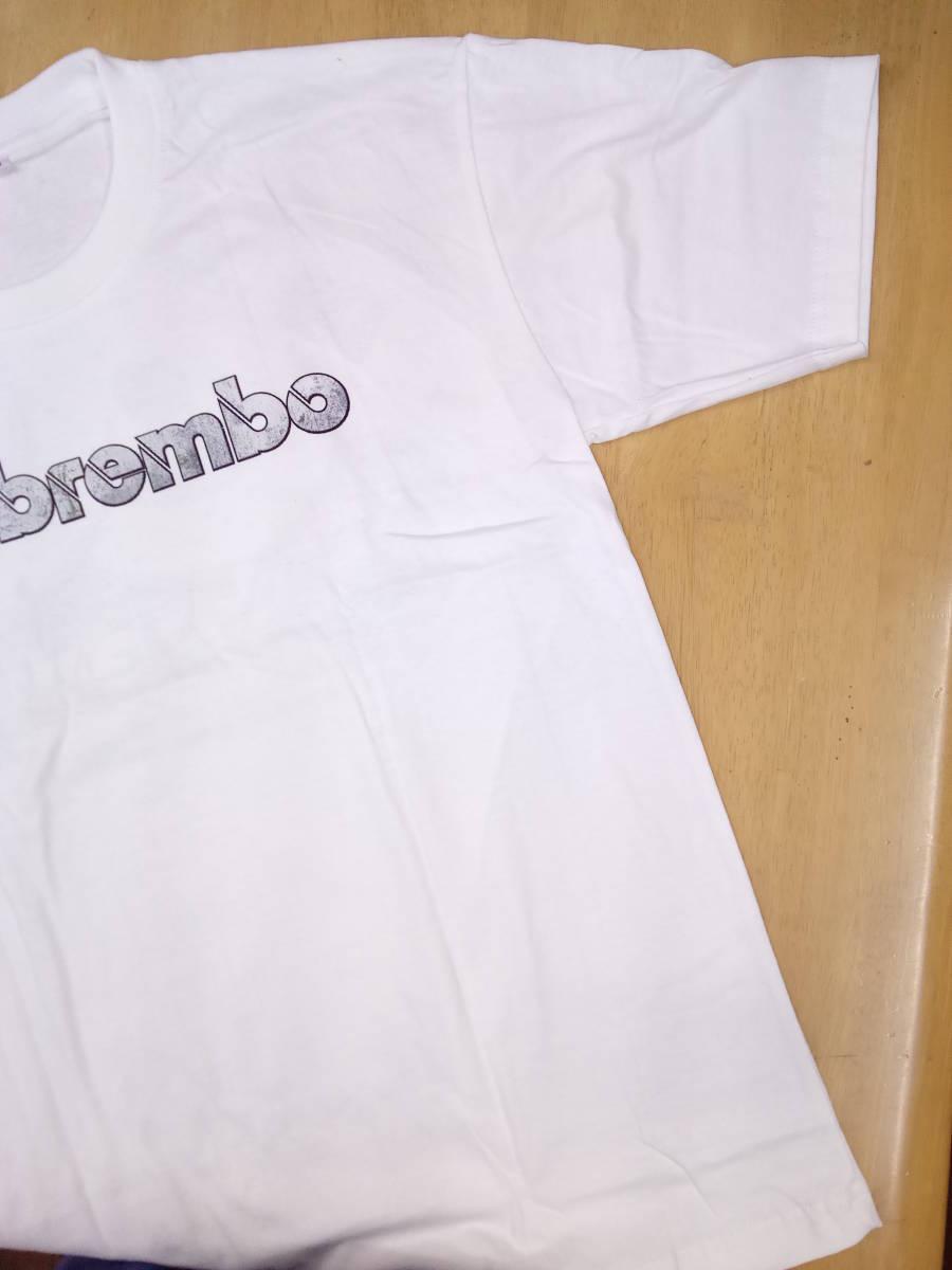 Tシャツ XLサイズ 白 Brembo 2 ブレーキ キャリパー ワイルドスピード ムーンアイズ ホットロッド カスタムカー 希少 _画像2