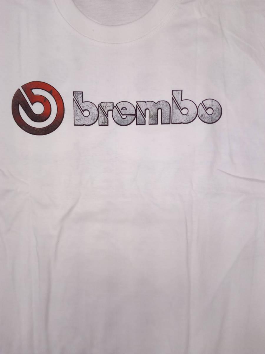 Tシャツ XLサイズ 白 Brembo 2 ブレーキ キャリパー ワイルドスピード ムーンアイズ ホットロッド カスタムカー 希少 _画像4