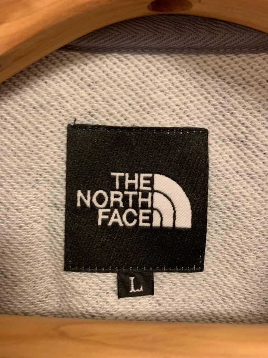 【一度のみ着用】THE NORTH FACE ボックスロゴ スクエアロゴ スウェット トレーナー L【美中古】_画像4