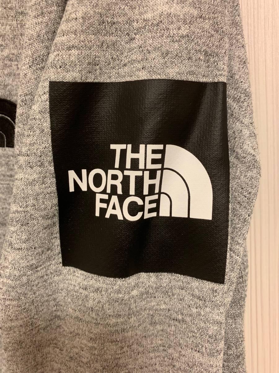 【一度のみ着用】THE NORTH FACE ボックスロゴ スクエアロゴ スウェット トレーナー L【美中古】_画像3