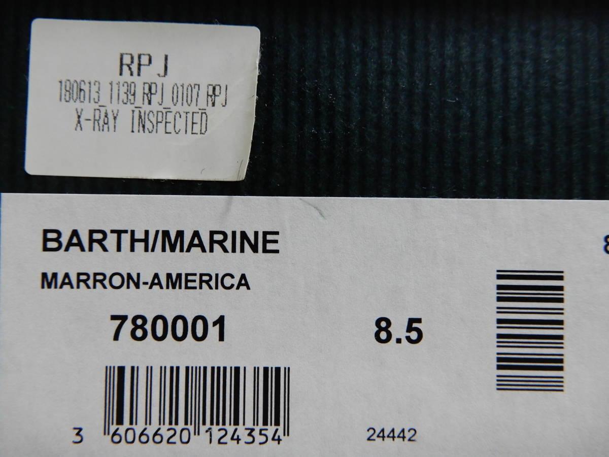 2点セット パラブーツ バース 美品 純正シューキーパー付 size8.5 27.0cm Paraboot Barth デッキシューズ _画像6