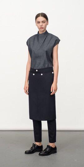 HYKE トライアングルカラー ノースリーブシャツ 定価22,000円