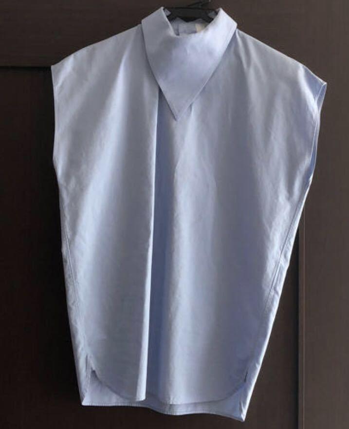 HYKE トライアングルカラー ノースリーブシャツ 定価22,000円_画像2