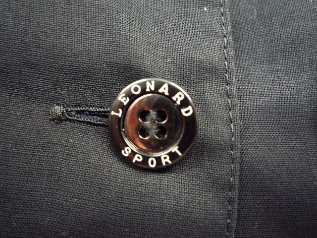☆LEONARD SPORT レオナール スポーツ シャツ ブラウス 花柄 ブラック系 大きいサイズ _ボタン
