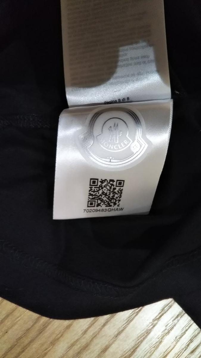サイズXXL 新品同様 Moncler モンダックTシャツ ブラック 半袖Tシャツ _画像10