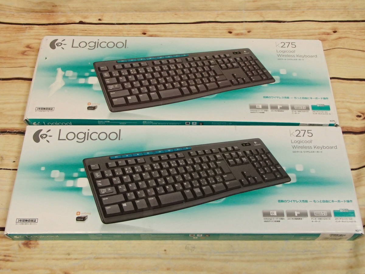 △Logicool ロジクール ワイヤレスキーボード K275 WIRELESS KEYBOARD K275 2個セット△