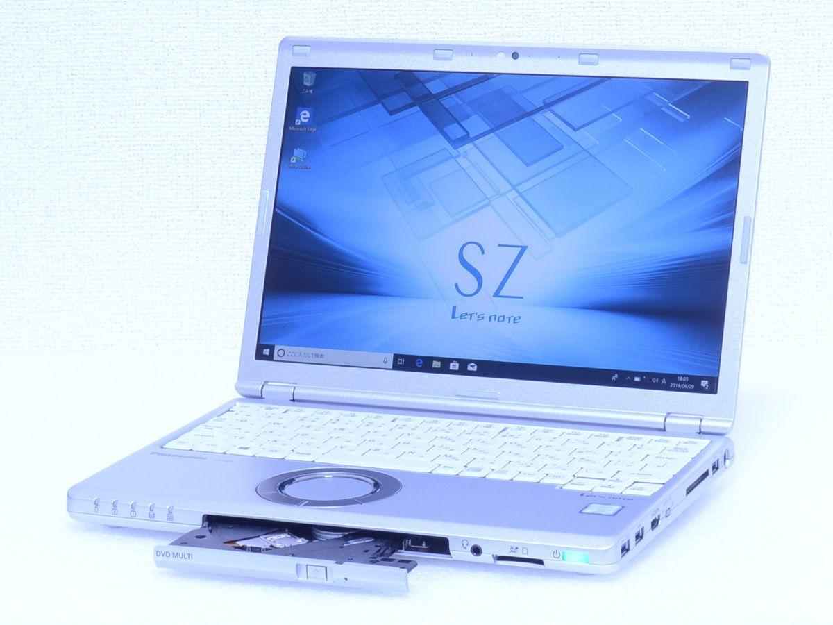 現行品 350,892円~ Panasonic Let's note【CF-SZ6SFUVS SIMフリー LTE対応 Core i7 / 7600U / メモリ16GB / SSD512GB カメラ / 約955g】_画像2