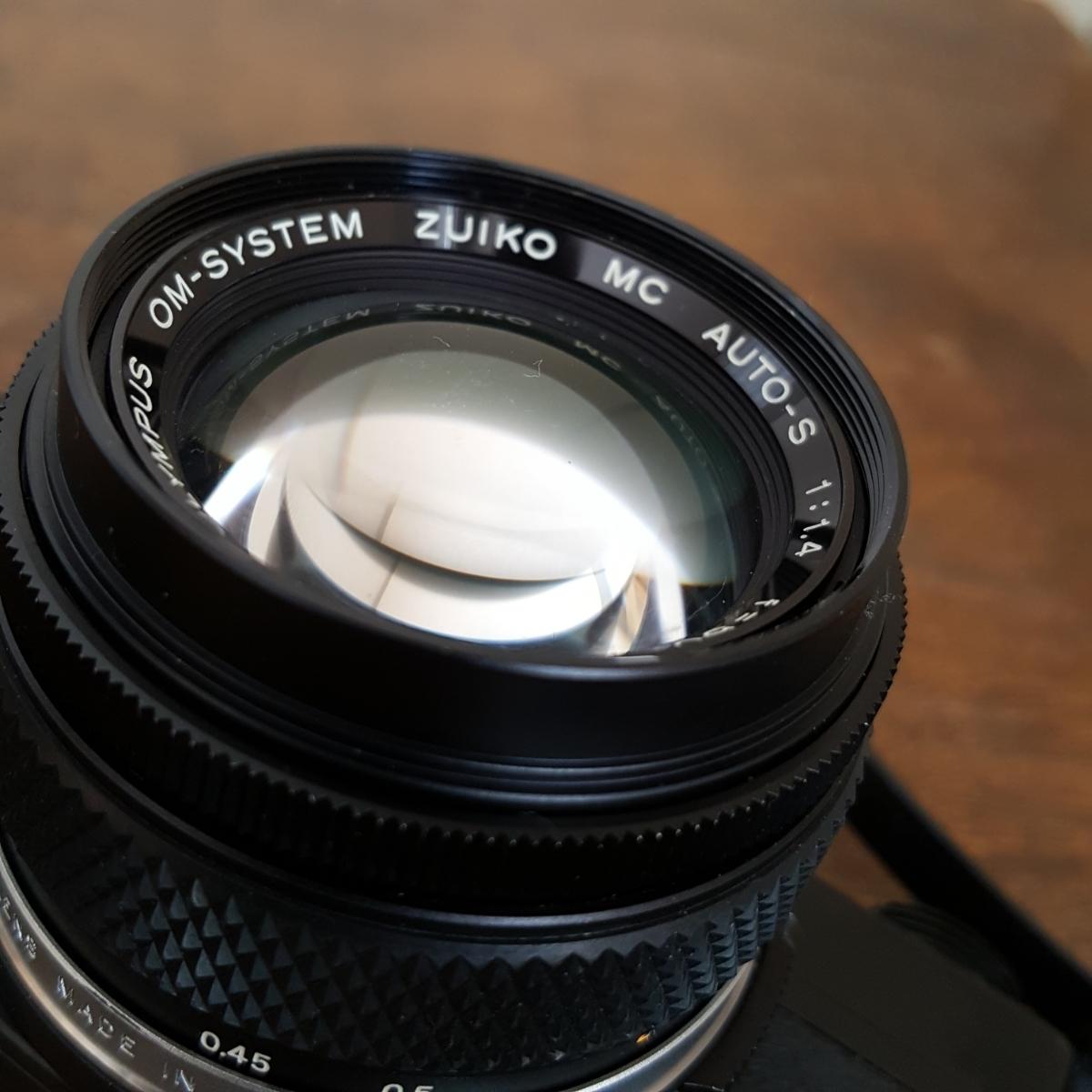 蔵出 当時物 カメラ その5 OLYMPUS OM-2N オリンパス レンズ OM-SYSTEM ZUIKO MC AUTO-S 1:1.4 f=50mm 1058965 1059884 昭和 レトロ 日本_画像8