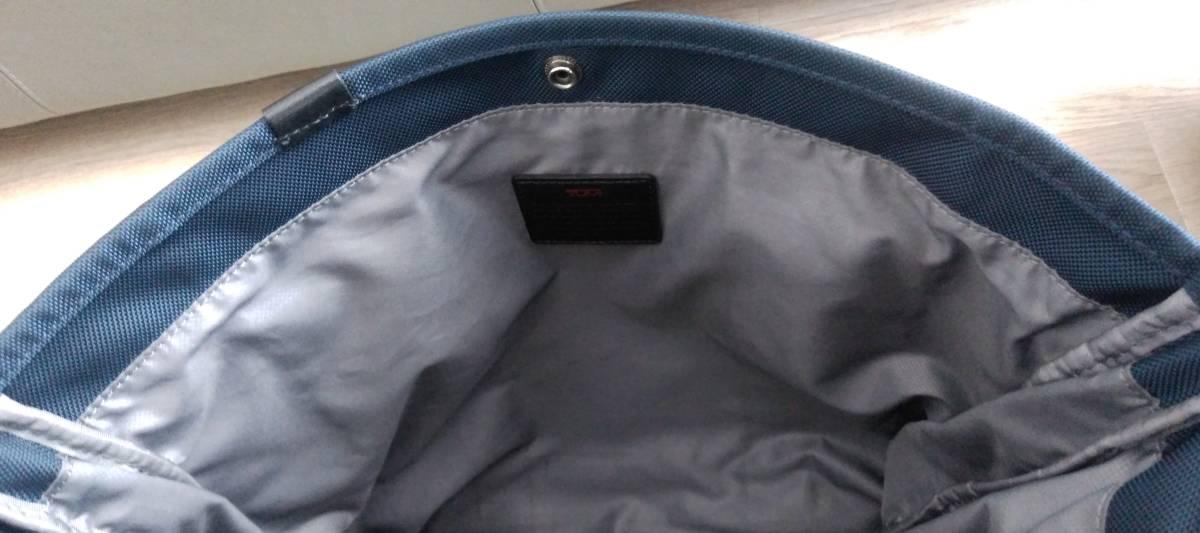 JAL限定品 ネイビー色 TUMI トゥミ バリスティックナイロン製エクスパンダブルトートバッグ 26296NVY2E_画像6