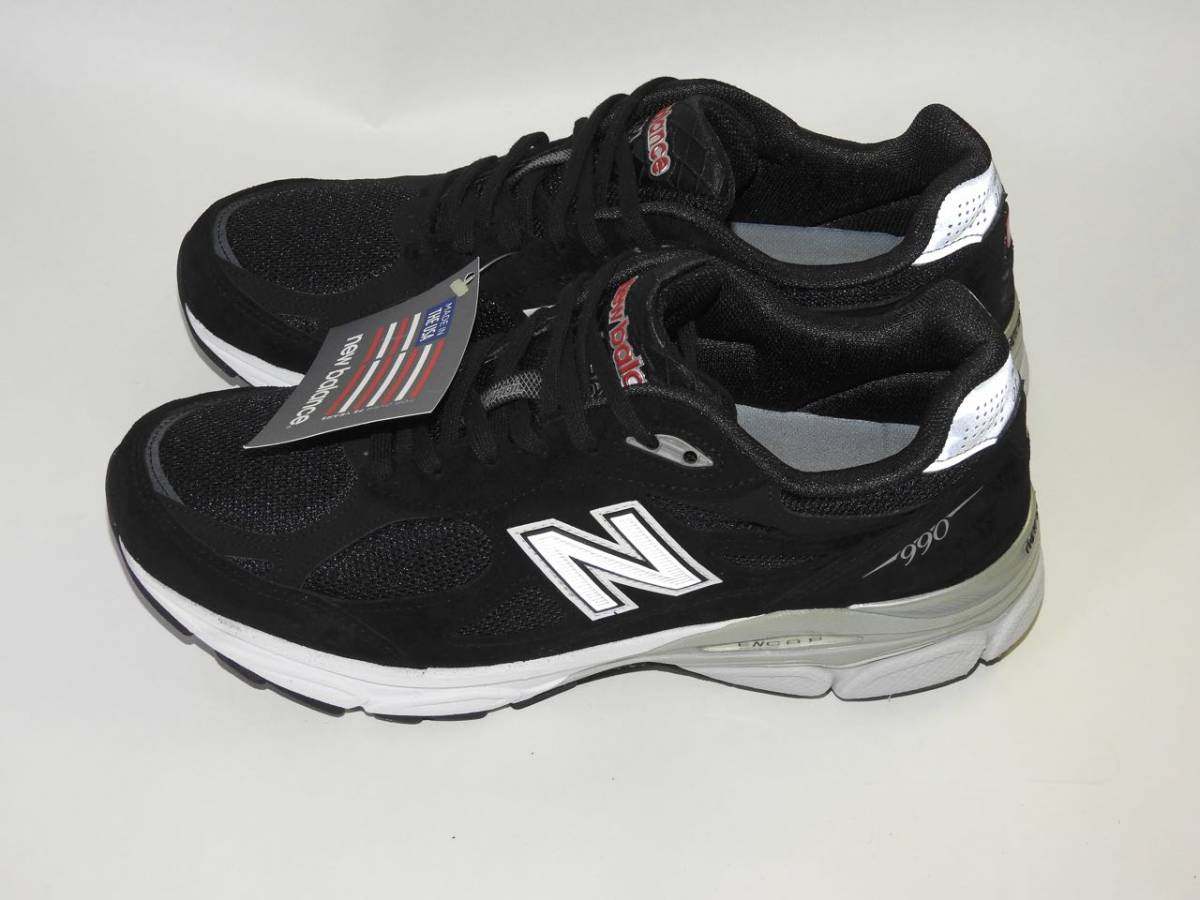 【New Balance / ニューバランス】 M990 BK3(BLACK / ブラック)US10 / 28.0cm USA製 新品未使用品_画像2