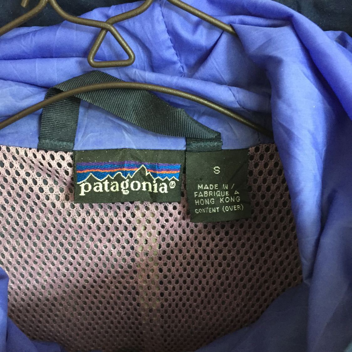 Patagonia パタゴニア ナイロンジャケット マウンテンパーカー ライトアウター アウトドア 90s メンズ Lサイズ 紺 ネイビー USA 海外仕入れ_画像3