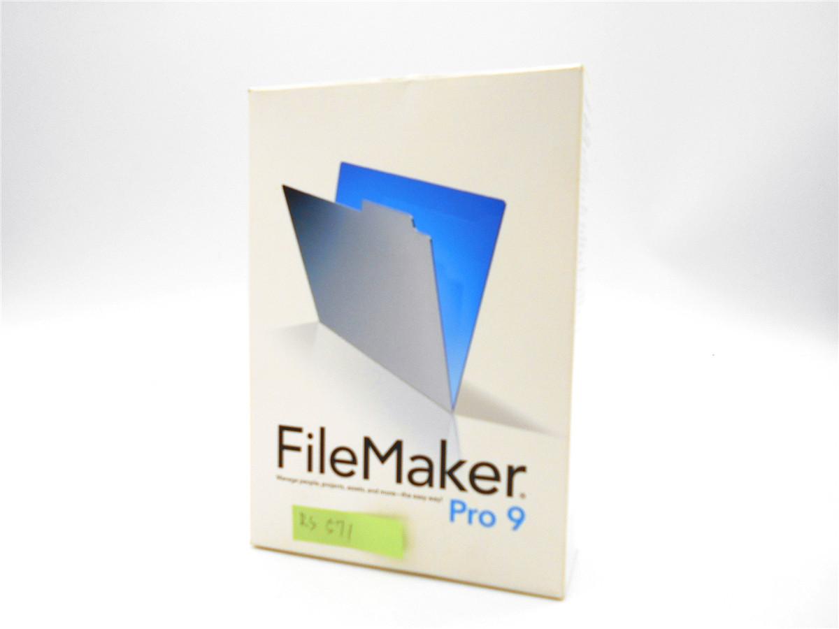 ●RS571●レア・FileMaker Pro 9 ファイルメーカー Windows & MAC OS 対応 データベースソフト プロ 中古 ソフト_画像2