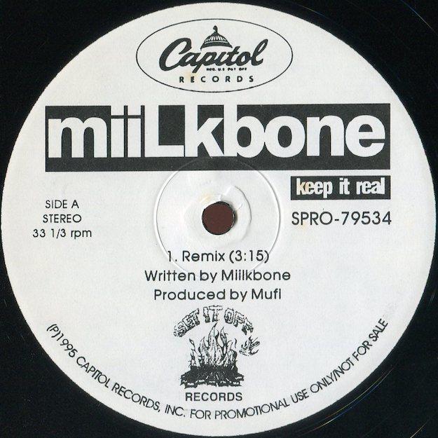 Miilkbone - Keep It Real (Remix)【激レアプロモオンリーリミックス】【US Promo】【Gil Scott-Heron and Brian Jacksonネタ】
