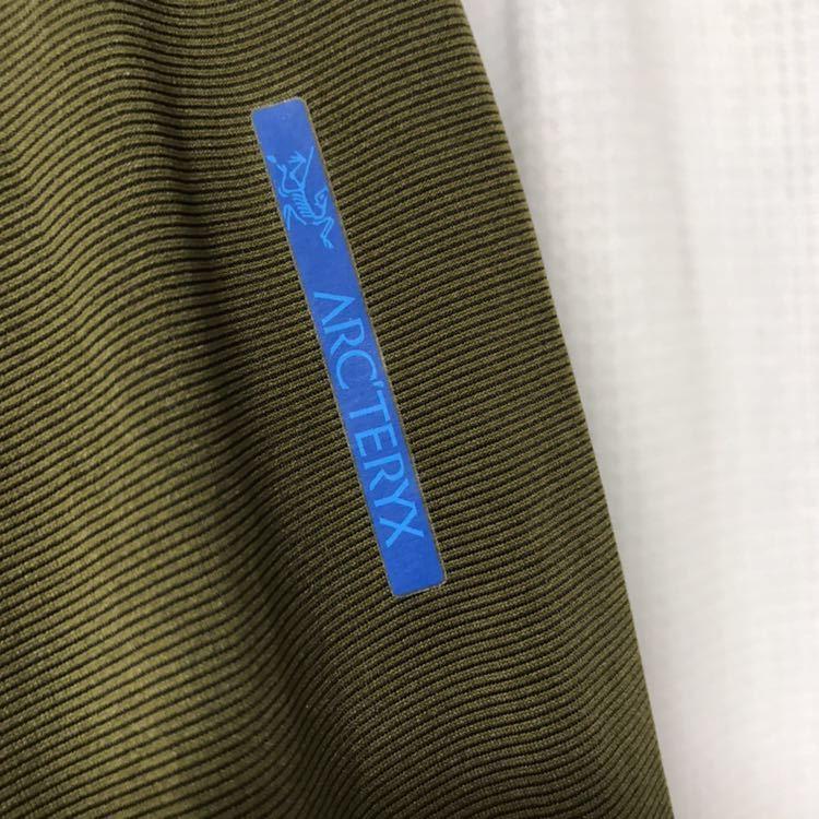 ARCTERYX 吸水速乾長袖Tシャツ S カーキ ロンT カットソー アンダーシャツ 登山 キャンプ フェス 釣り アウトドア アークテリクス_画像3