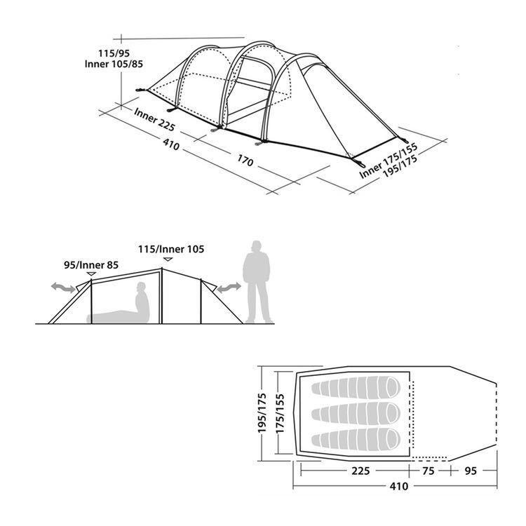 【美品】2019年モデル Robens Voyager 3EX 3人用テント _画像5