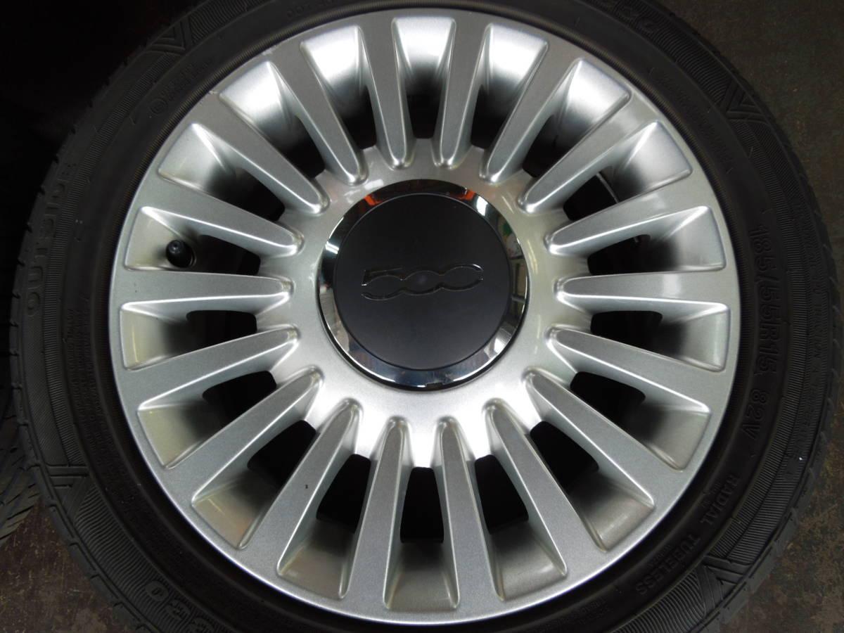 フィアット FIAT 500 純正アルミホイール 185/55R15 4本_画像4