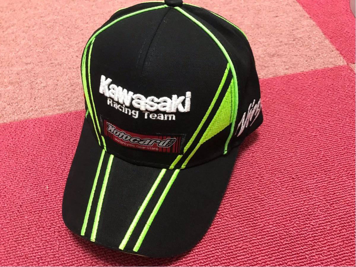 新品 即納 kawasaki カワサキ キャップ 帽子 ニンジャ Z1000 Z1 Z2 GPZ H2R SS750 KH500 FX ゼファーMotoGP TEAM SUPER BIKE _画像2