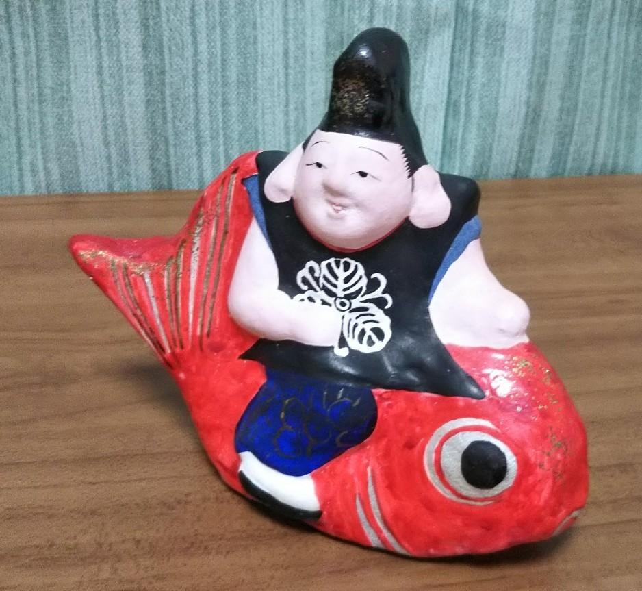 郷土玩具 中野土人形 奈良久雄作 「ねずみ(甲子)大黒」と「鯛乗りえびす」【入手困難】_画像6