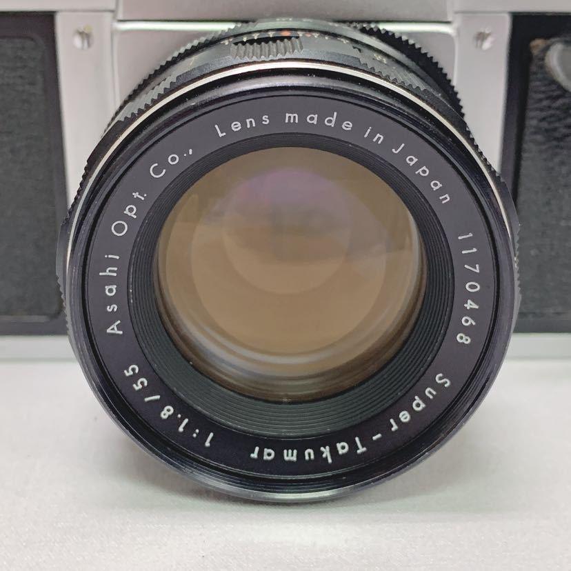 ASAHI PENTAX SV ペンタックス フィルムカメラ レンズ Super-Takumar 1:1.8/55 R尼0814_画像3