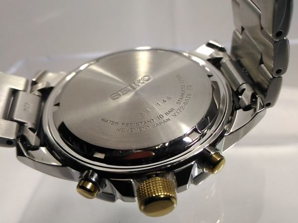 【SSC304 SEIKO ソーラー 1円】セイコー SOLAR クロノ メンズ 逆輸入 海外 モデル 腕時計 新品 100m アナログ 未発売 メンズ ウォッチ_画像8