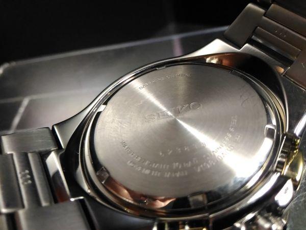 【完全中古!1円 超豪華 パーペチュアル】海外限定 セイコー SEIKO ソーラー COUTURA クロノ SOLAR 腕時計 メンズ 逆輸入 モデル 未発売_画像8