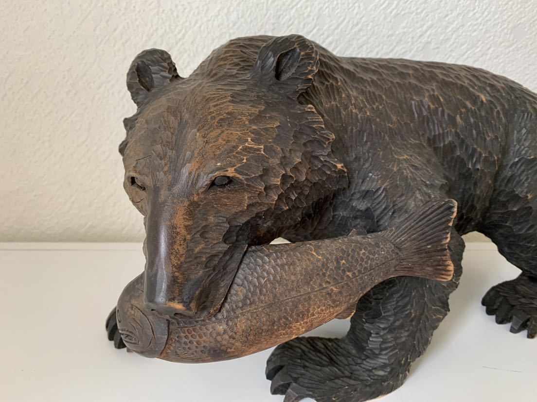 【送料込み】木彫りの熊 あらき作 アイヌ 熊の置物_画像7