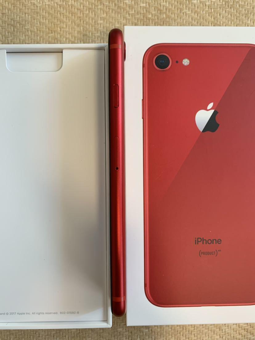 iPhone8 PRODUCT RED SIMロック解除 _画像3