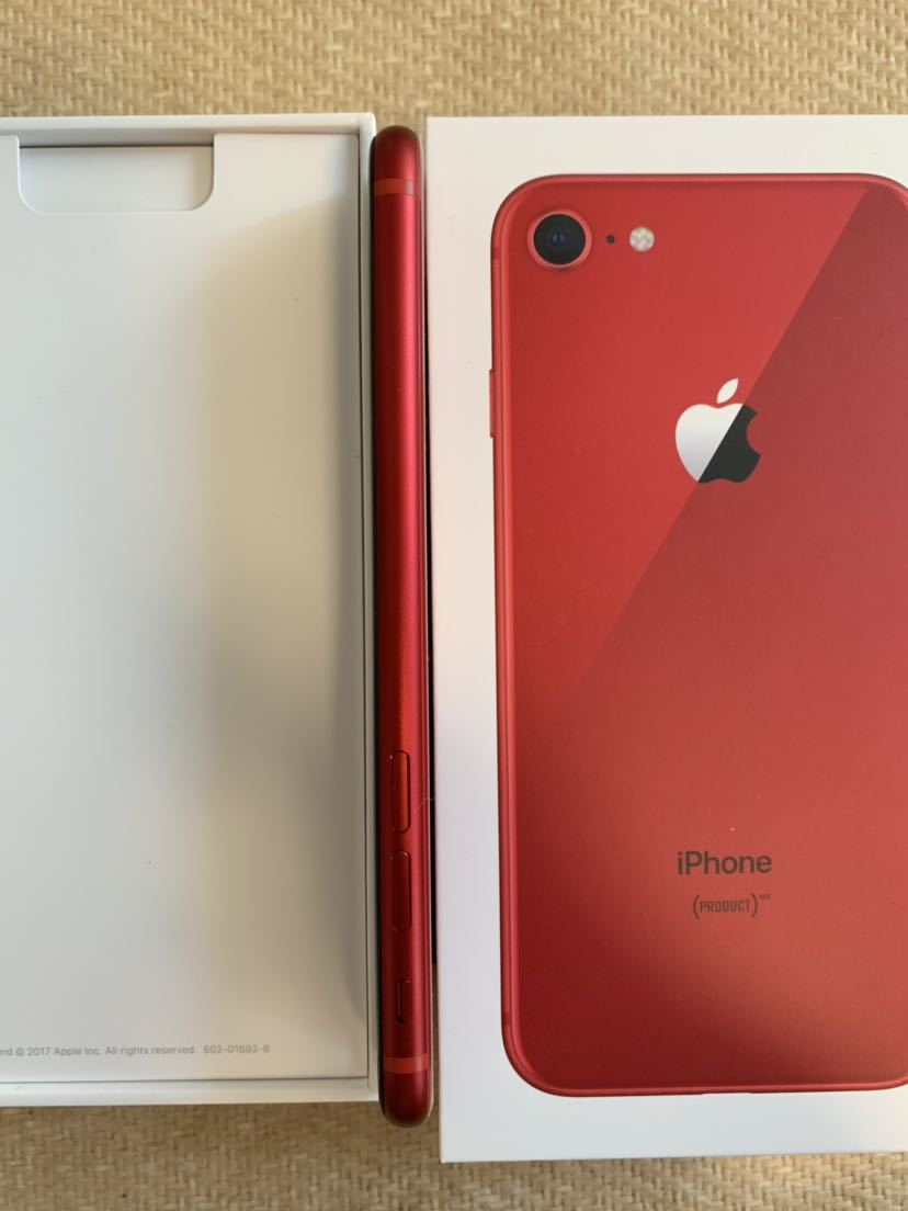 iPhone8 PRODUCT RED SIMロック解除 _画像5