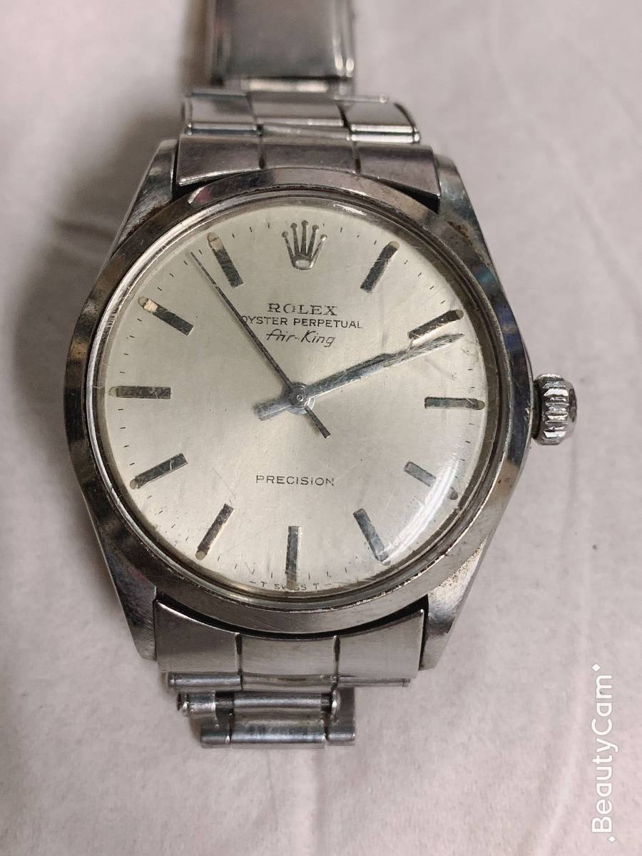 new concept 44603 fde75 送料無料 中古ROLEX OYSTER PERPETUAL AIR-KING REF.14000 SILVER DIAL/ロレックス エアキング  14000 自動巻X番 シルバー文字盤