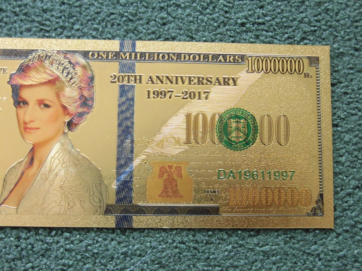 ダイアナ妃 紙幣で大変希少な24金です 24 Gold ★限定数販売★バンクシーDismaland_画像3