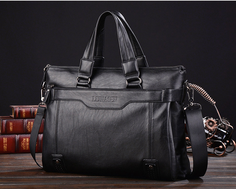 上質★メンズ ビジネス バッグ 鞄 ブリーフケース  ブラック 大容量 多機能 g-98