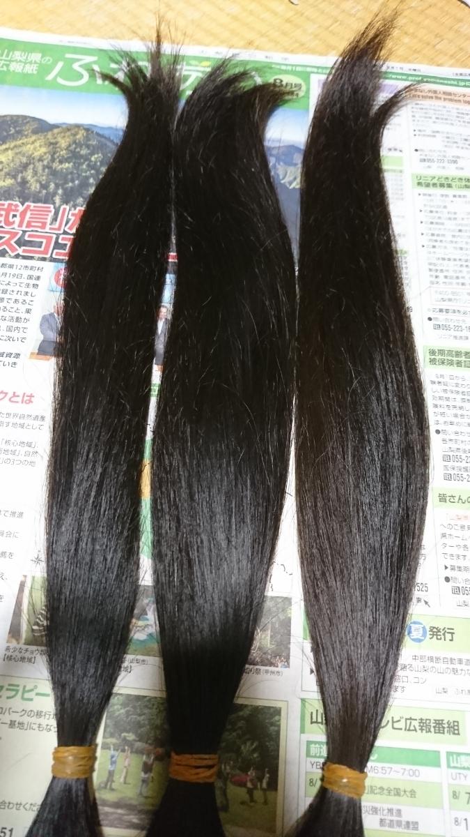 髪の毛 長さ50cm 重さ196g 20代 日本人 人毛 髪束_画像4