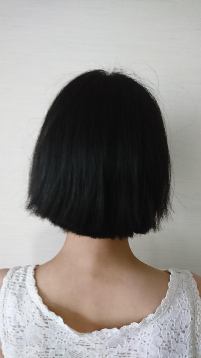 髪の毛 長さ50cm 重さ196g 20代 日本人 人毛 髪束_画像2